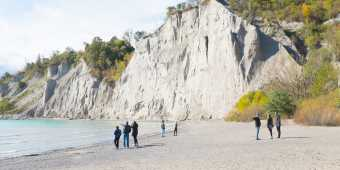 Bluffers Beach at the Scarborough Bluffs