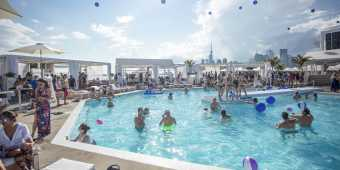 A pool party at Cabana Pool Bar in summer