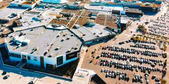 aerial view of Sherway Gardens shopping centre, located in Etobicoke