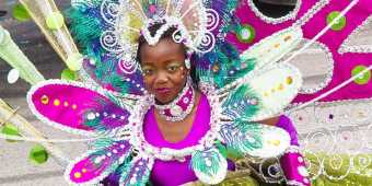 A woman at the Caribbean Carnival in Toronto