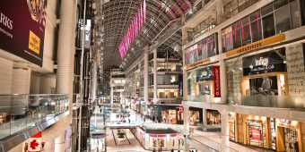 Inside the Eaton Centre shopping mall