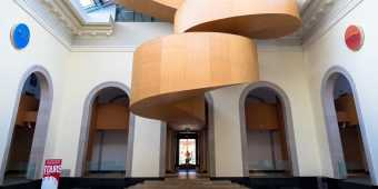 The spiral staircase in the Art Gallery of Ontario was designed by Canadian architect Frank Gehry