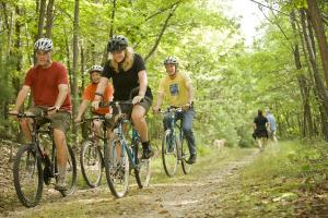 Biking at Michaux Forest