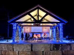 Fireplace Patio at Botanica Illuminations 2020