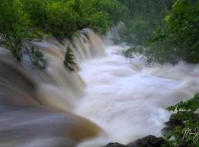 The Floodgates Opened at Santa Fe Lake Falls