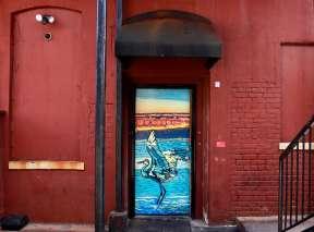 Quivera Sunset Alley Door by Marcia Scurfield
