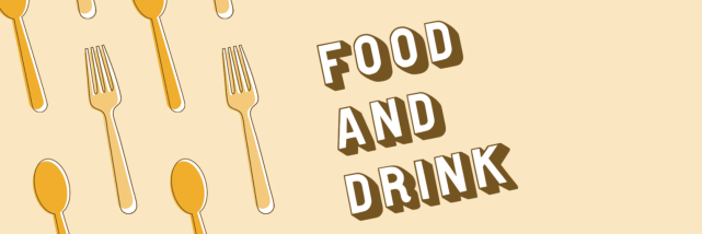 Banner for Bloomington Restaurant Week saying Food and Drink