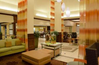 Lobby at the Hilton Garden Inn in Beavercreek, Ohio