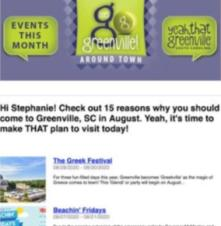 Events eNewsletter - Screenshot