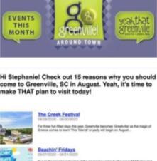 Events eNewsletter - Screenshot
