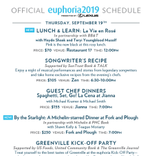2019 euphoria Schedule Lineup