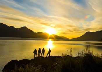 RV travel on Turnagain Arm near Anchorage, Alaska