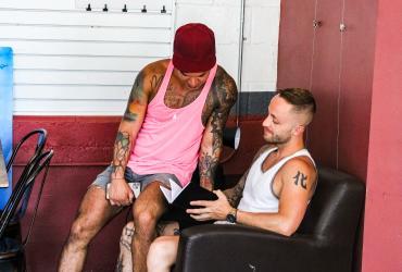 LGBTQ Couple reading a book