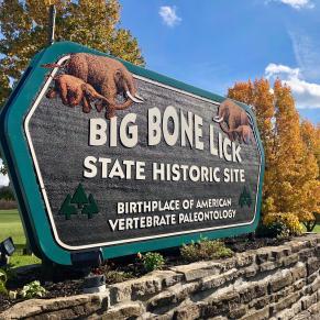 Big Bone Lick State Historic Site sign