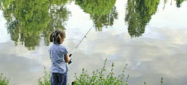 Girl Fishing at Alton Baker Park by Erin Ortmann