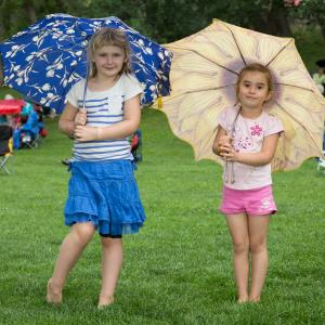 Girls at Buckley Park for a Concert