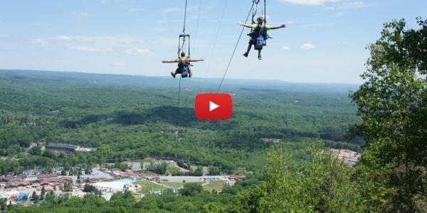 Poconos Zipline Fly Through The Forest In The Pocono Mountains