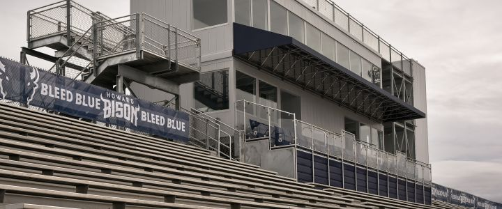 A press box from Southern Bleacher Co. at Howard University