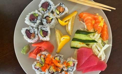 Sushi plate from Sushi Yoshi