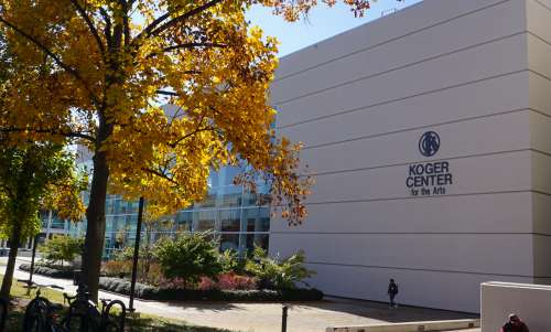 Exterior of Koger Center for the Arts
