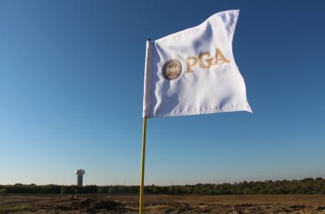 PGA of America pin golf flag