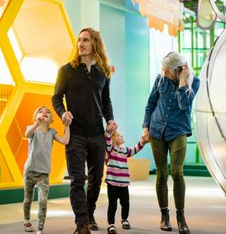 Family at the Discovery Gateway Children's Museum