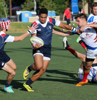 High School Rugby Game in Salt Lake
