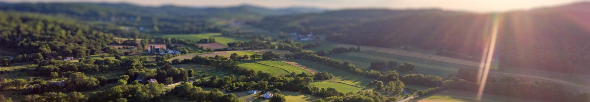 A photo illustration of a Lehigh Valley landscape