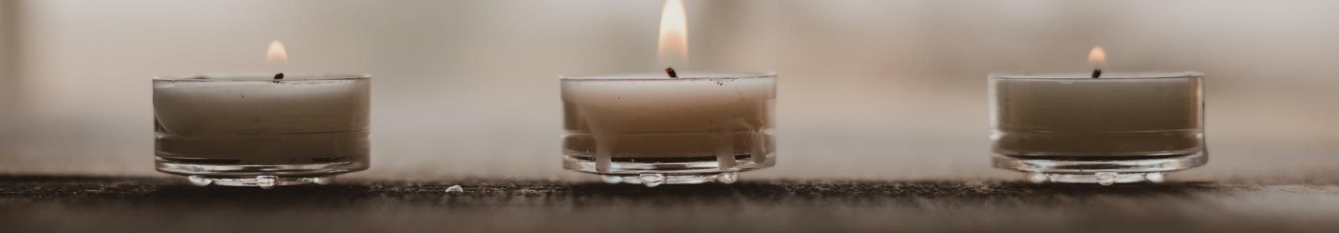 Candles at a spa, Lehigh Valley, Pa