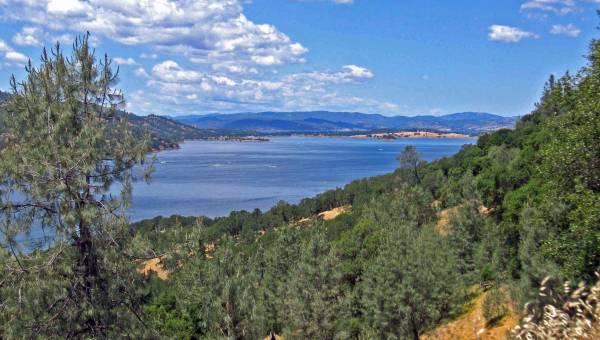 Lake Berryessa in Napa Valley, CA