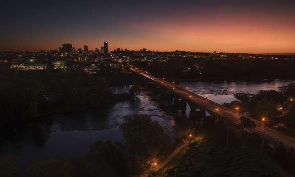 Columbia Skyline and Sunrise