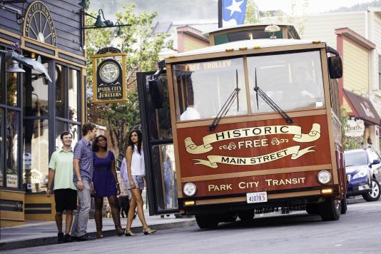 Group Trolley on Historic Main Street