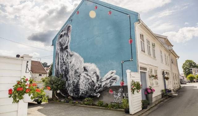 Street art i Hollenderbyen