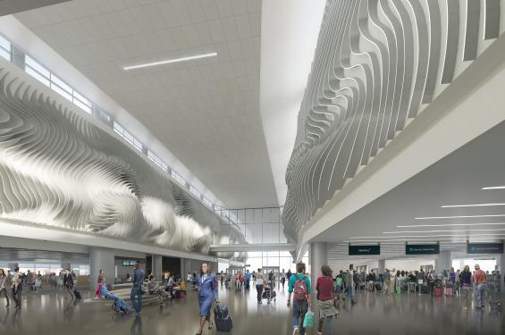 Rendering of the New Salt Lake City International Airport