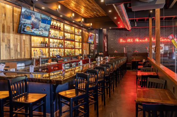 The bar at Bricks Corner