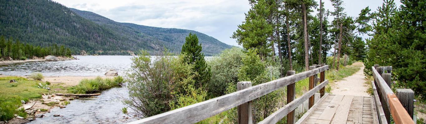 Bridge on the Monarch Lake trail