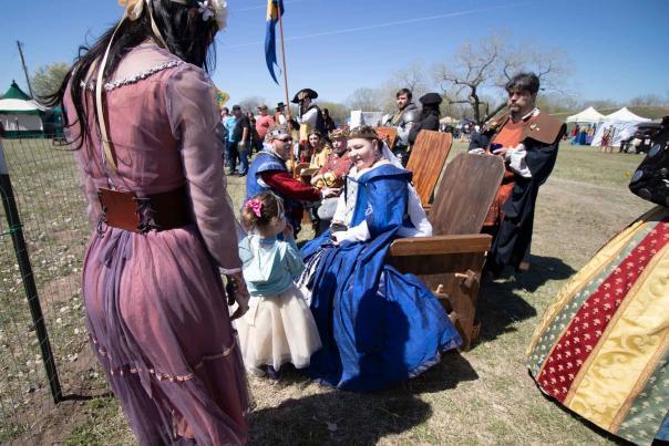 Meeting the Royals at the Great Plains Renaissance Festival