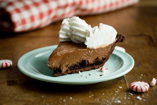 Slice of Peppermint Mocha Pie from Peace, Love & Pie