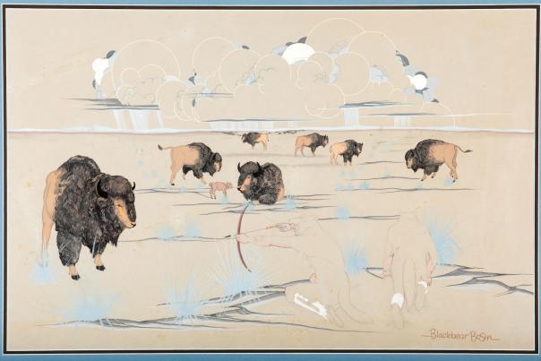 Buffalo Hunt by Blackbear Bosin