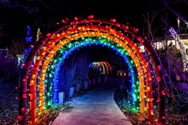 Childrens Garden Tunnels at Carousel at Botanica Illuminations 2020