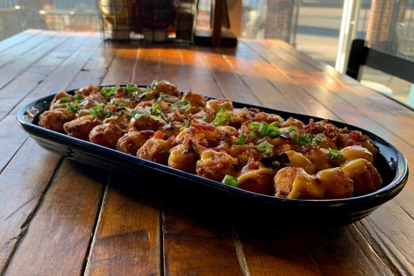 Loaded Sweet Potato Tots at the Monarch