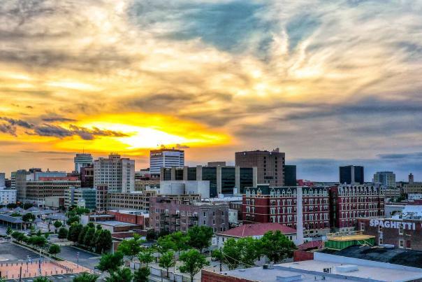 Wichita Skyline Drone Photo
