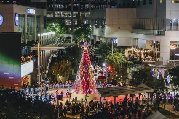 CitySkate in Phoenix is a fun and family-friendly holiday activity. Come skate on the ice around the CitySkate Christmas Tree!