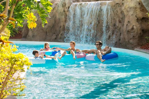 Hilton Orlando family in lazy river