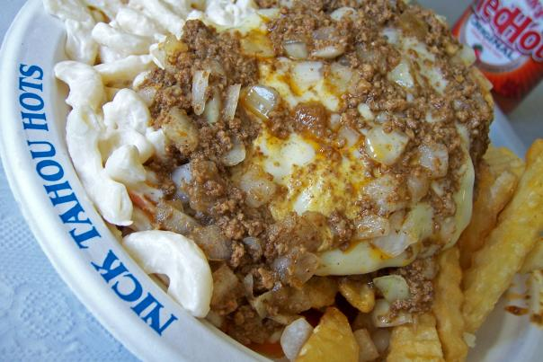 A Garbage Plate from Nick Tahou's Hots in Rochester, NY