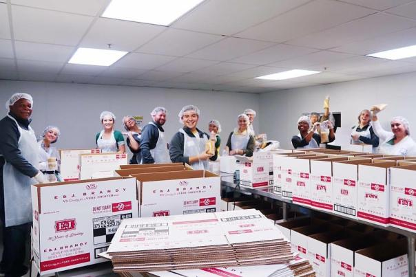Volunteers Helping Out at Alameda County Community Food Bank