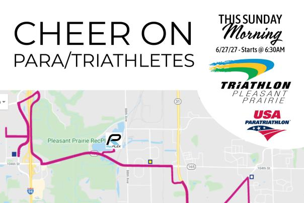 2021 Cheer On Pleasant Prairie Triathlon Map