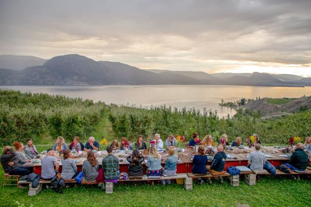 SOURCED Dinner Overlooking Okanagan Lake