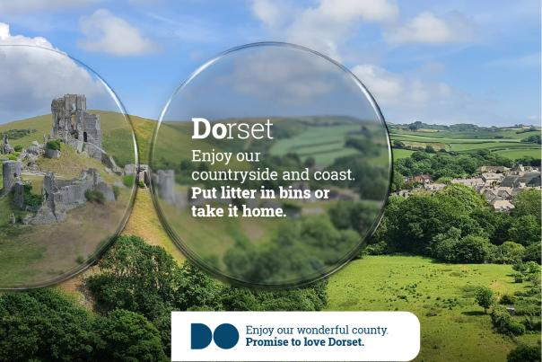 Promise To Love Dorset - enjoy our countryside and coast by binning your litter or taking it home