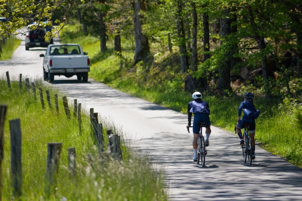 Biking in Cades Cove